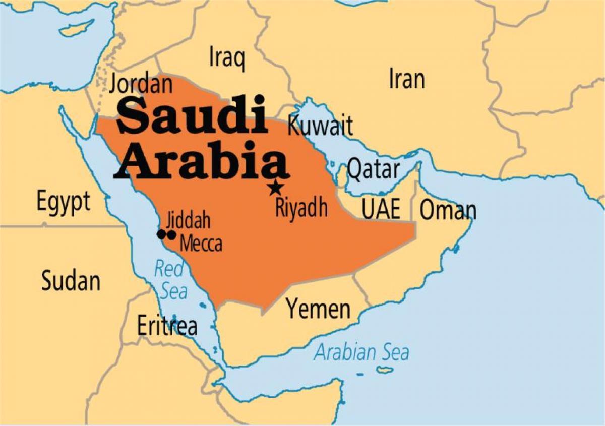 Mecca map - Macca map (Saudi Arabia)