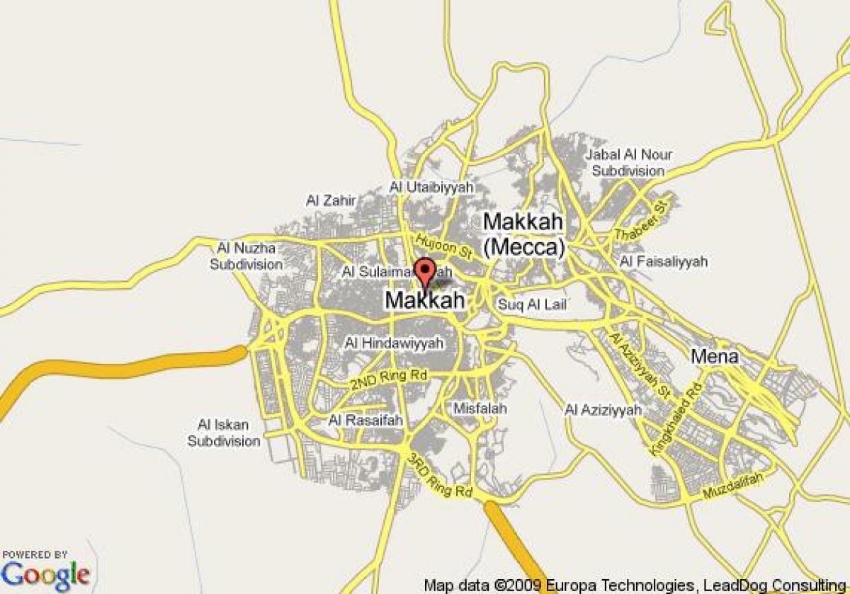 Mecca street map - Map of Mecca street (Saudi Arabia)